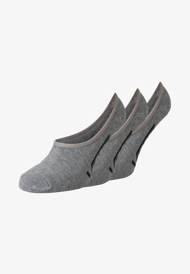 UA CLASSIC SUPER NO SHOW (6.5-9, 3PK) - Enkelsokken - heather grey