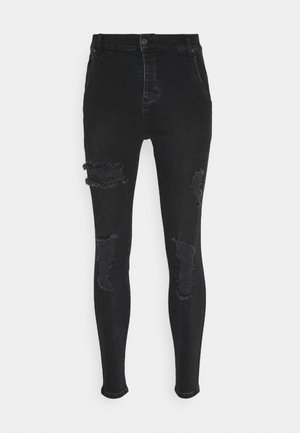 DISTRESSED SUPER  - Jeansy Skinny Fit - black