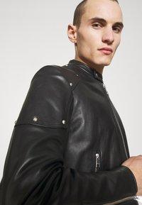Just Cavalli - SPORTSJACKET - Leather jacket - black - 4