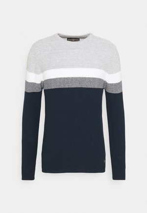 HANSI ROUND NECK - Maglione - grey-navy