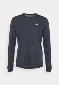 Salewa - PUEZ DRY TEE - Sports shirt - black out melange - 0