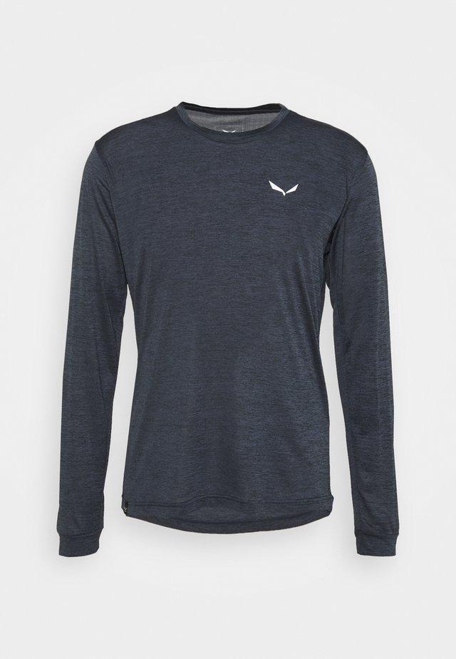 PUEZ DRY TEE - Treningsskjorter - black out melange