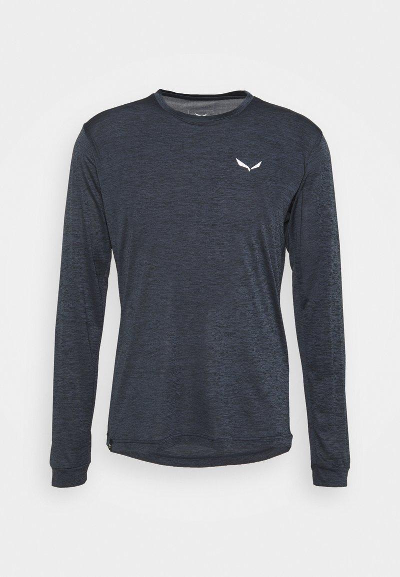 Salewa - PUEZ DRY TEE - Sports shirt - black out melange