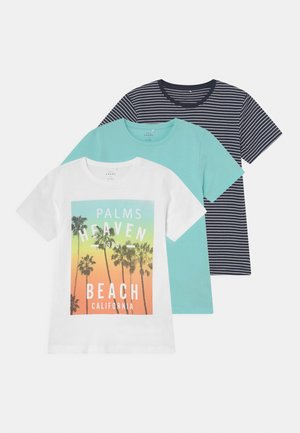 NKMVEDANNY 3 PACK - T-shirt con stampa - bright white