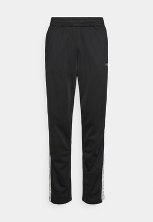 JAIRUS TAPE TRACK PANTS - Verryttelyhousut - black