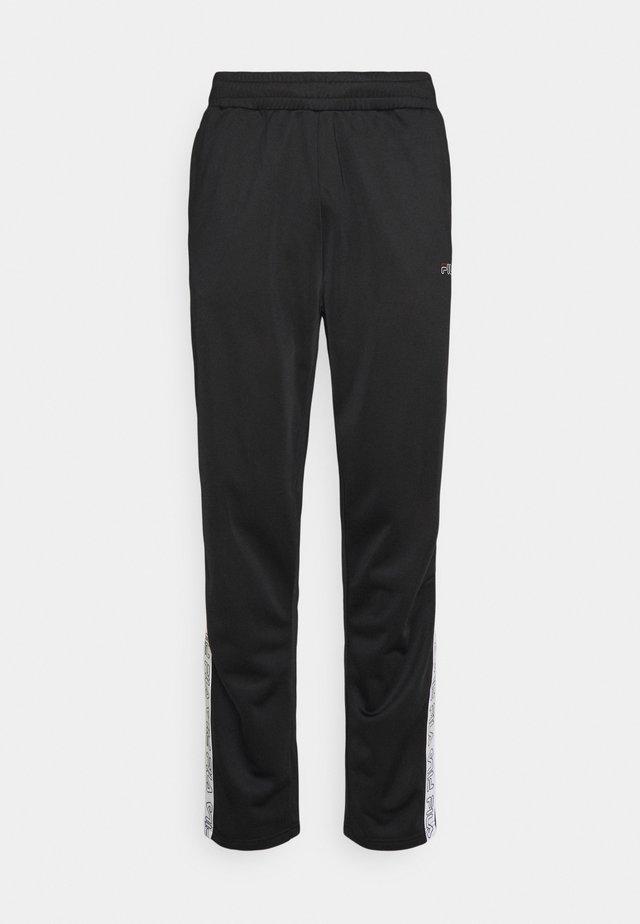 JAIRUS TAPE TRACK PANTS - Teplákové kalhoty - black