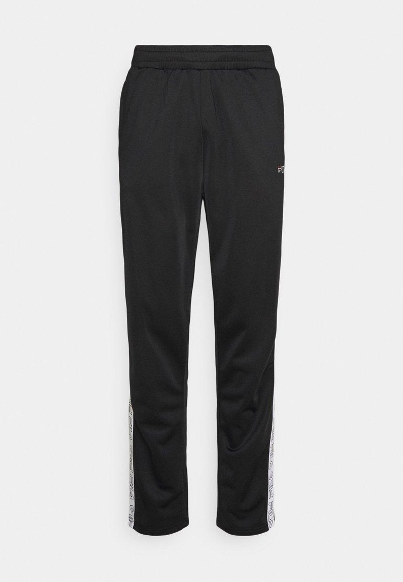 Fila - JAIRUS TAPE TRACK PANTS - Tracksuit bottoms - black