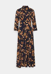 YAS - YASSAVANNA FLORA LONG DRESS - Maxi dress - black - 0