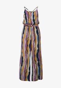 TOM TAILOR DENIM - OVERALLS STREIFENMUSTER - Jumpsuit - wavy multicolor stripes - 5