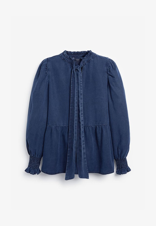 BOW DETAIL  - Blouse - blue