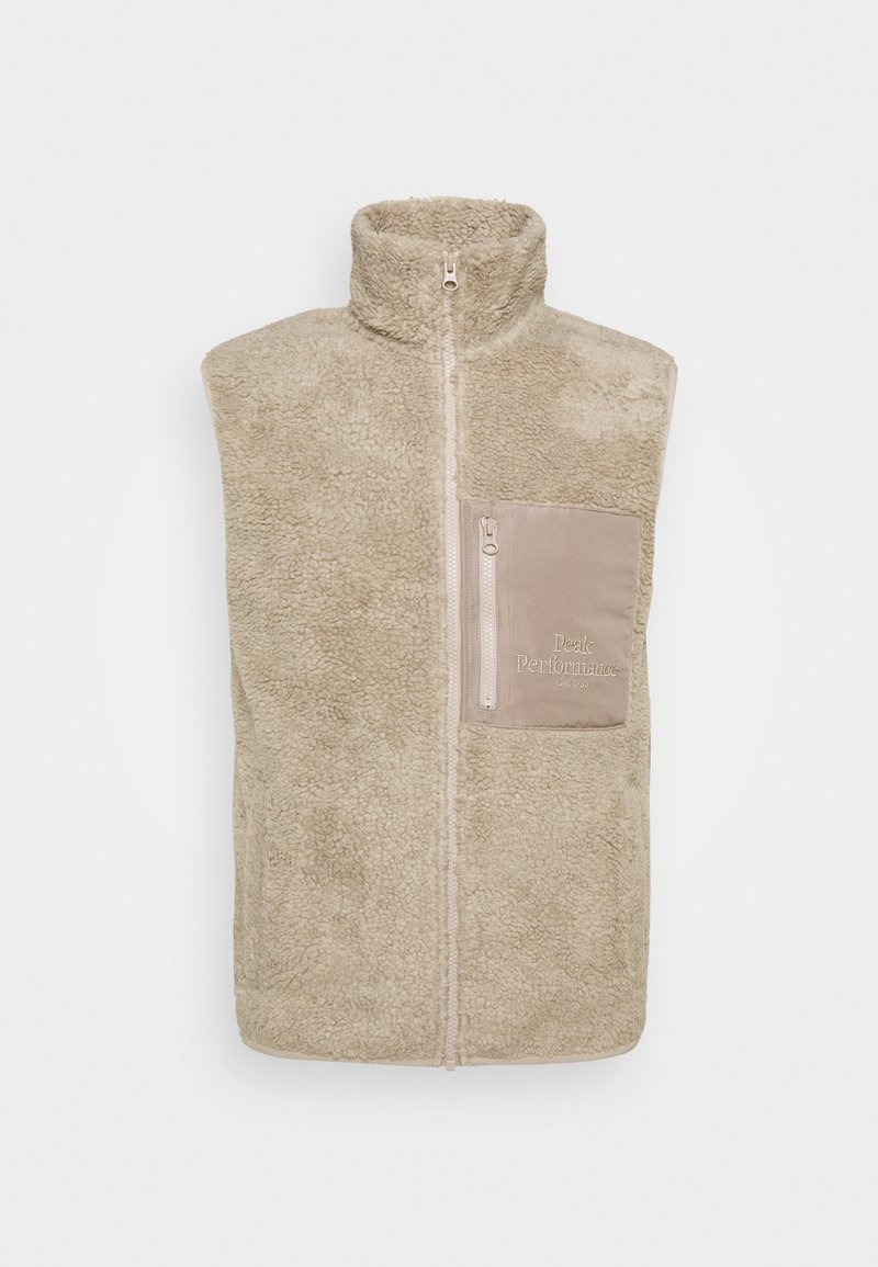 Peak Performance - ORIGINAL PILE VEST - Väst - celsian beige