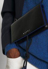 Marni - MUSEO SOFT MINI UNISEX - Across body bag - black/navy blue - 2