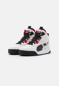 Puma - BACKCOURT MID UNISEX - Vysoké tenisky - white/black/high risk red/silver - 1