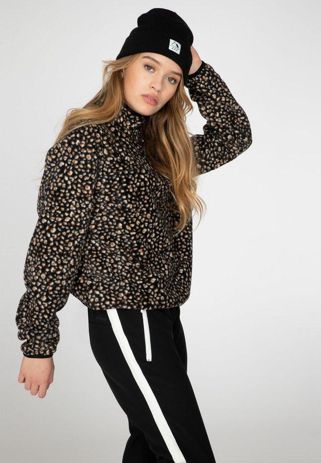 BRITT - Fleece jumper - true black