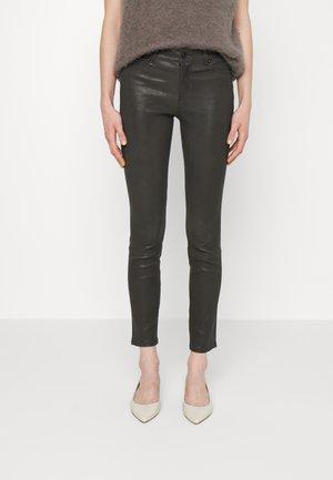 STRETCH PANT - Kožené kalhoty - antrazite