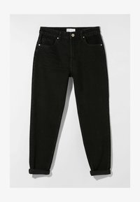 Bershka - MOM FIT - Jeansy Relaxed Fit - black - 4