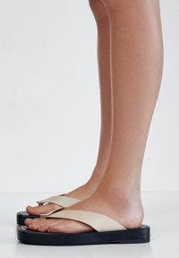 Massimo Dutti - T-bar sandals - beige - 1