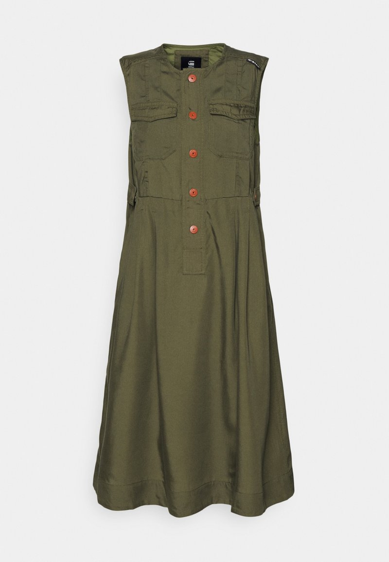 G-Star - FIT AND FLARE DRESS - Day dress - combat