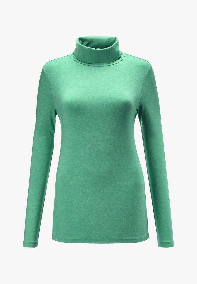 Long sleeved top - jadegrün