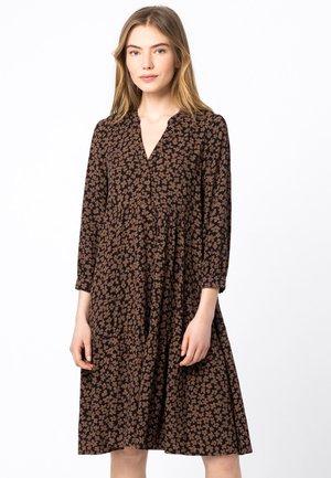 KLEID HÄNGERKLEID MIT MINI-BLÜTENPRINT - Day dress - schwarz