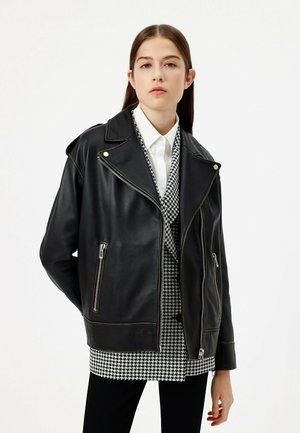 LITSA - Leather jacket - black