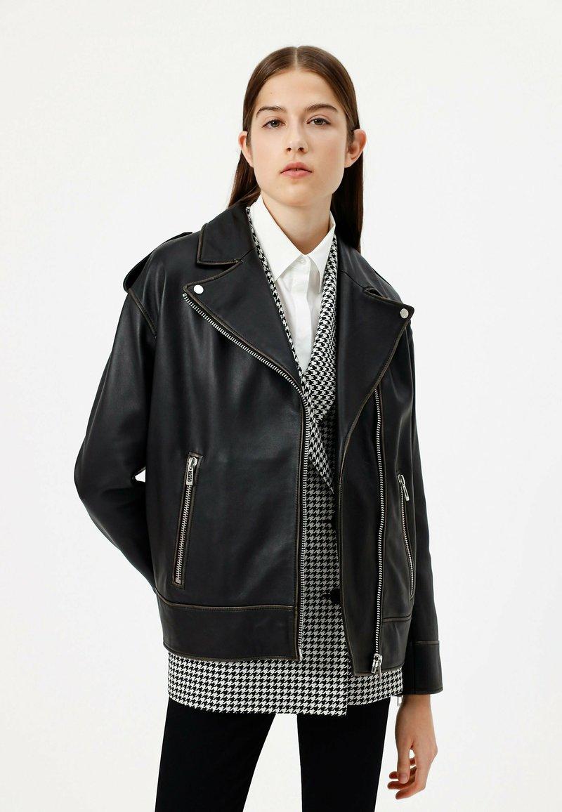 HUGO - LITSA - Leather jacket - black