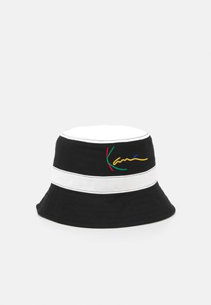 SIGNATURE PINSTRIPE BUCKET HAT UNISEX - Hat - black