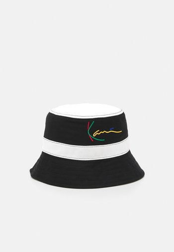 SIGNATURE PINSTRIPE BUCKET HAT UNISEX - Hat - black