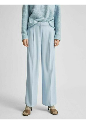 SLFTINNI WIDE PANT - Trousers - cashmere blue