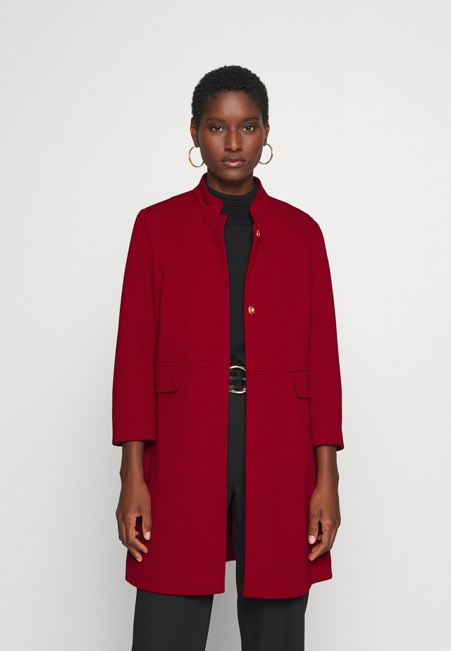 Halflange jas - deep red