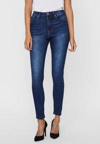 Vero Moda - Jeans Skinny Fit - dark blue denim - 0