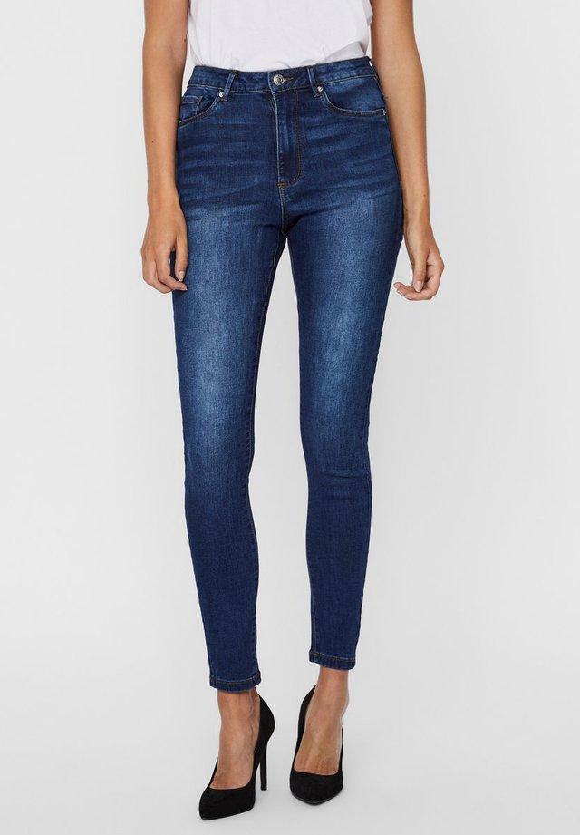Jeansy Skinny Fit - dark blue denim