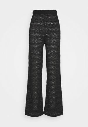 BREATHTAKING WIDE PANTS - Pantalones - black