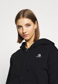 Converse - WOMENS FOUNDATION FULL ZIP HOODIE - Zip-up sweatshirt - black - 4