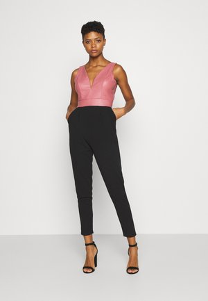 Jumpsuit - black/dark blush pink