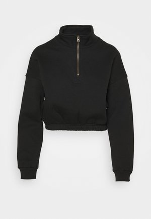 PARIS ZIP THRU - Felpa - black