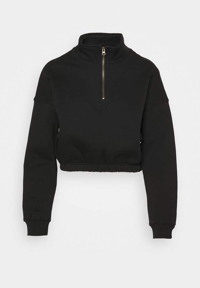 PARIS ZIP THRU - Sweatshirt - black