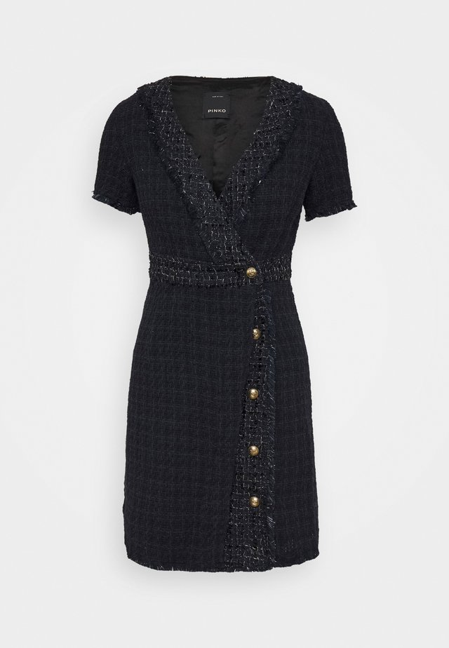 RINALDO DRESS - Shift dress - blue/nero