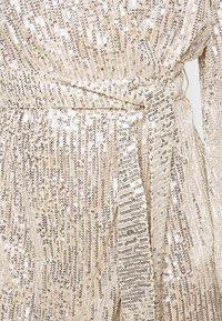 Glamorous Petite - NECK WRAP DRESS - Cocktail dress / Party dress - nude silver - 5