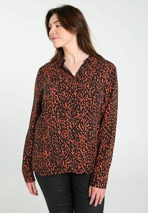 MIT TIERFELL PRINT - Overhemdblouse - orange