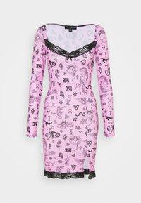 NEW girl ORDER - SYMBOLS DRESS - Denní šaty - pink - 0