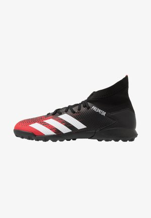 PREDATOR 20.3 TF - Astro turf trainers - core black/footwear white/active red