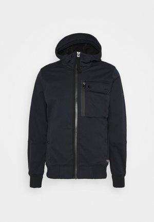UTILITY HOODED SOFTSHELL - Soft shell jacket - mazarine blue/dark black