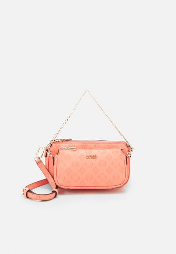 DAYANE DOUBLE POUCH CROSSBODY SET - Handbag - coral