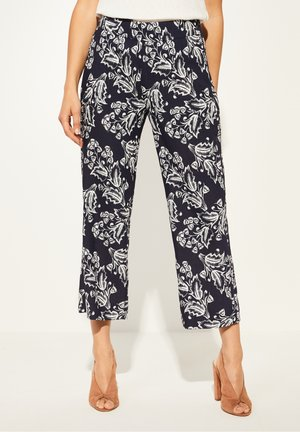 Trousers - navy two tone flowers