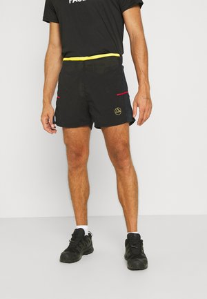 FRECCIA SHORT - Sports shorts - black/yellow