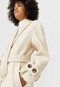 Stradivarius - Classic coat - white - 2