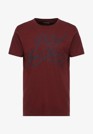 OPTION - Print T-shirt - burgundy