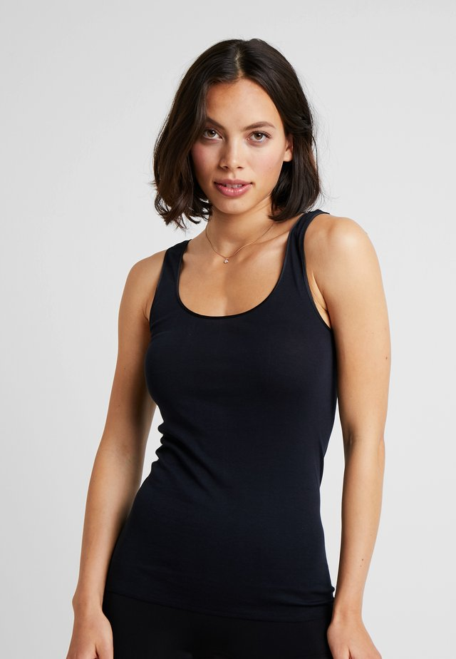 SEAMLESS TANK - Undershirt - black
