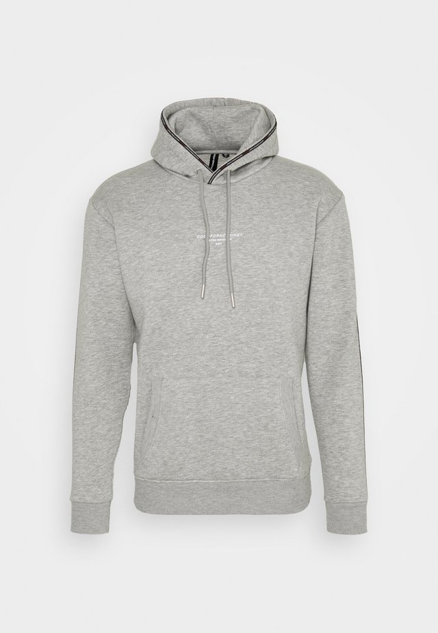 FITTED GREY MICRO TAPED BRANDED HOOD - Sweatshirt - grey